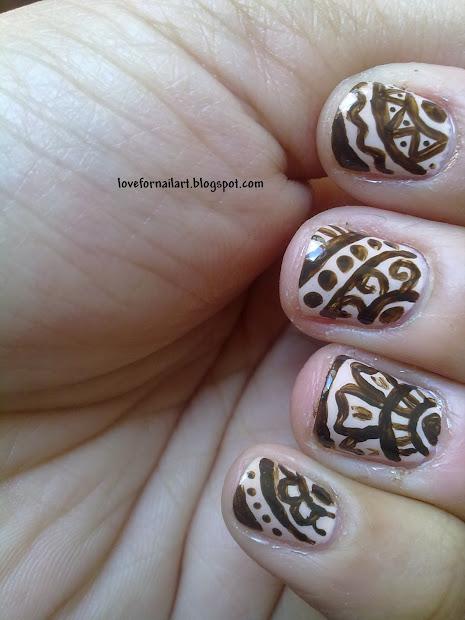 love nail art mehndi henna
