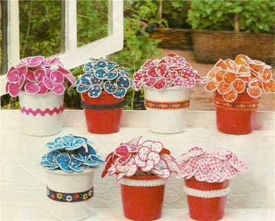 manualidades con macetas para decorar en casa ~ cositasconmesh