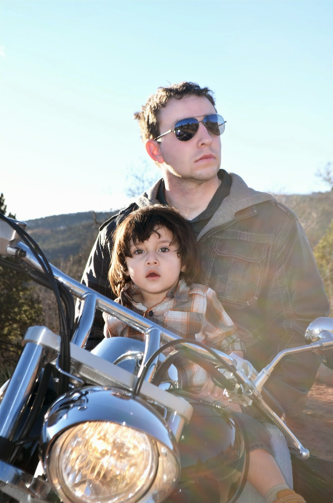 Daddy and me motorcycle photography