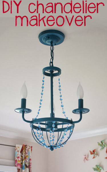 Serenity now diy chandelier makeover for baby girl nursery now to share a diy project with us today keep reading to see how she gave an inexpensive chandelier a fab makeover for her baby girls nursery aloadofball Image collections