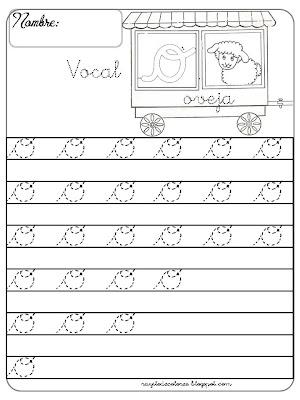 caligrafía Vocal o
