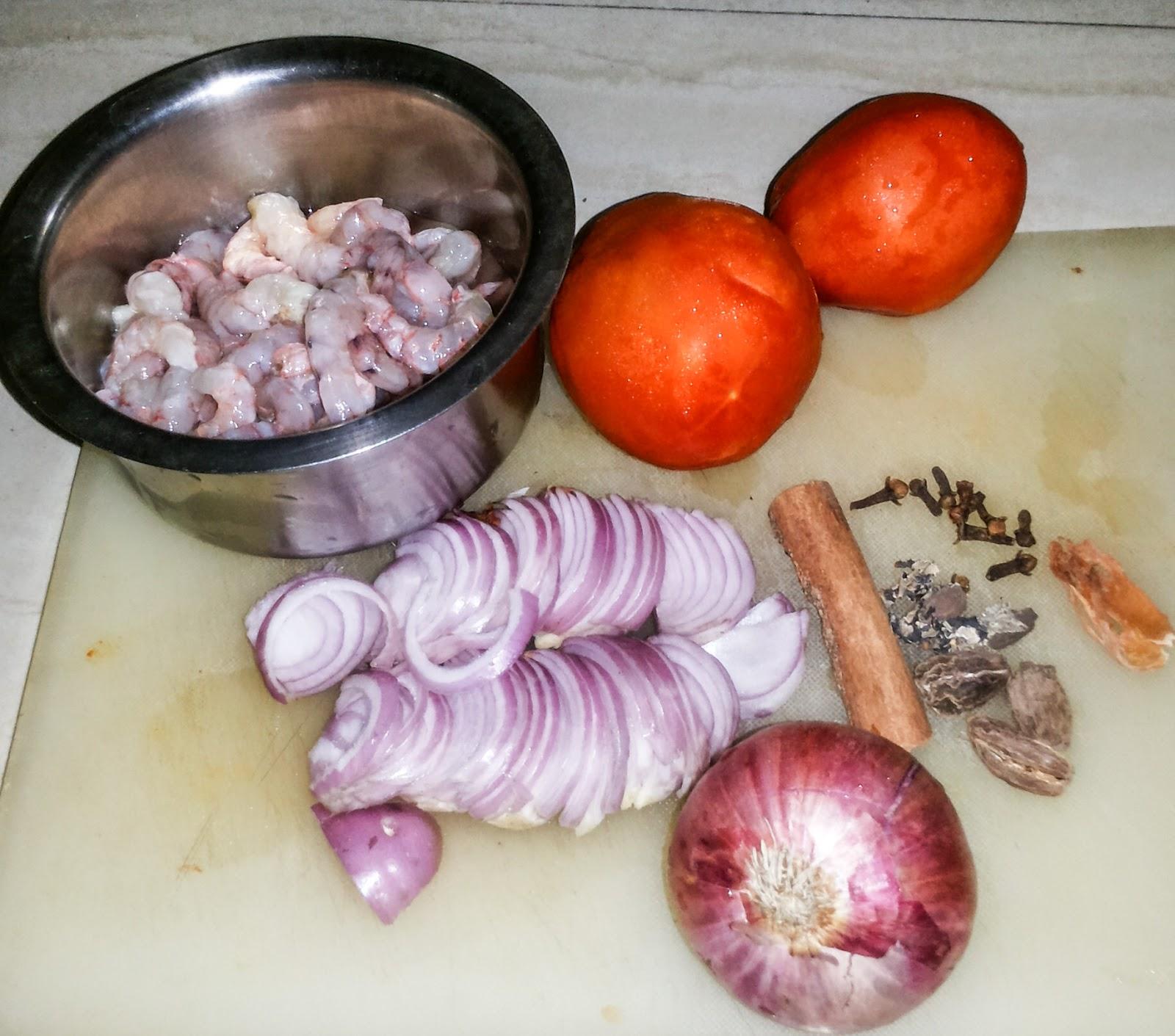 Ingredient for prawn pulao