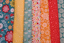June mystery quilt fabrics
