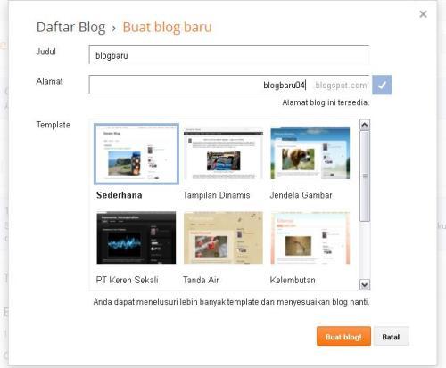 Cara Membuat Blog di Blogspot.com Gratis dan Mudah