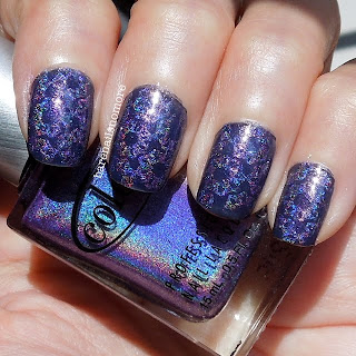 Essence Date in the Moonlight & Winmax Nail Sparks 81 stamped with Color Club Eternal Beauty