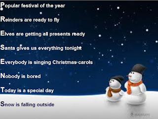 Christmas Acrostic Poem | New Calendar Template Site