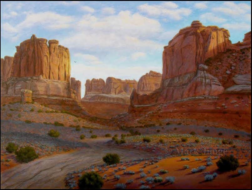 Arches National Park,red rock,redrock,sandstone,juniper,sagebrush,hawk
