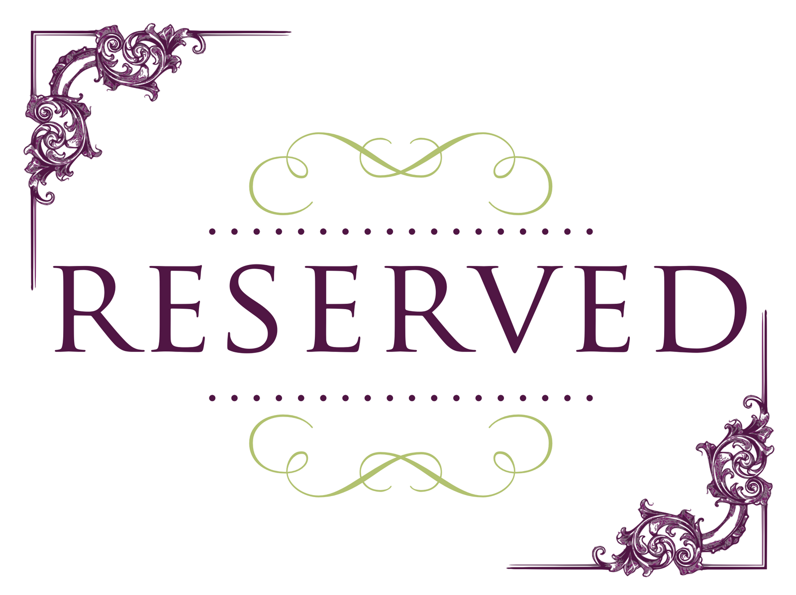 Reserved seating signs cake ideas and designs for Reserved seating signs template