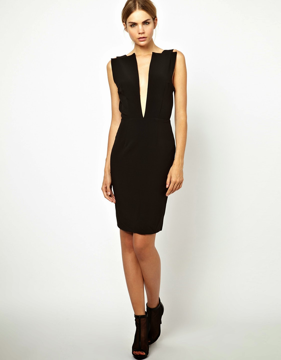 Deep V Midi Dresses  is popular.