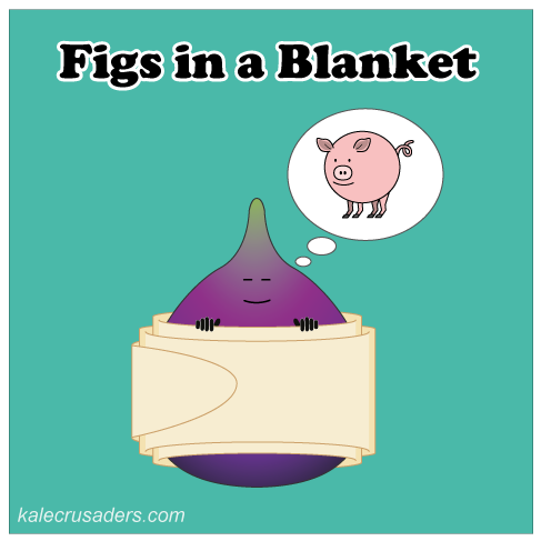 Figs in a Blanket, Fig in a Blanket, Vegetarian Pigs in a Blanket, Vegan Pigs in a Blanket, Sleeping Fig, Dreams of Pig