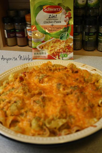 Britmums product reivew for Schwartz 2 in 1 Mediterranean Chicken Pasta & Cheesy Crumb Topping