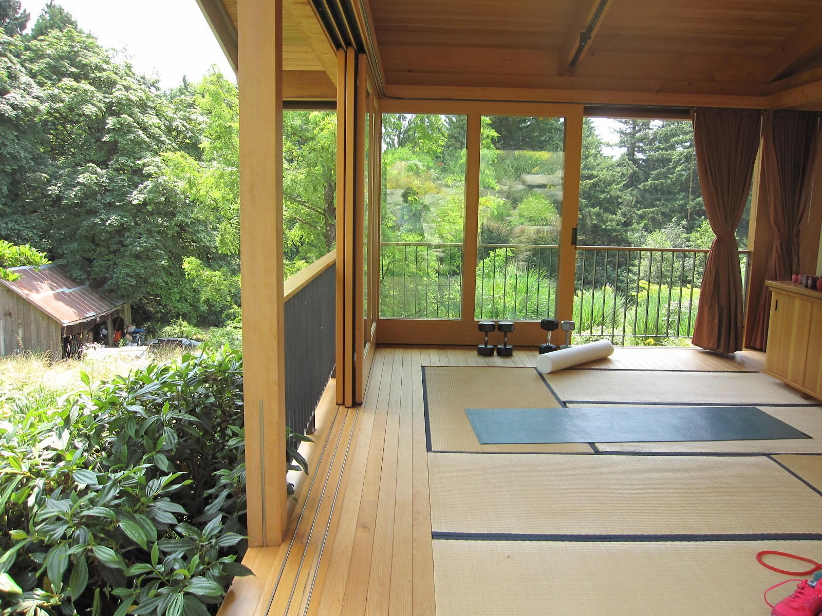 Stunning Home Yoga Studio Design Ideas Photos - harmonyfarms.us ...