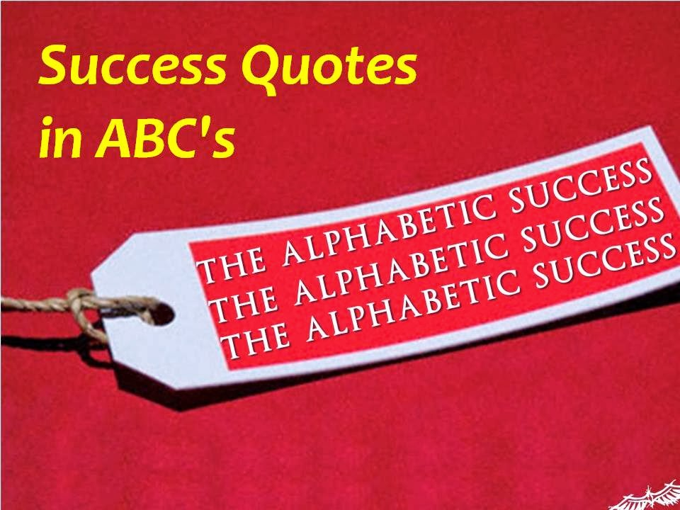 Success Quotes in ABC's ppt download