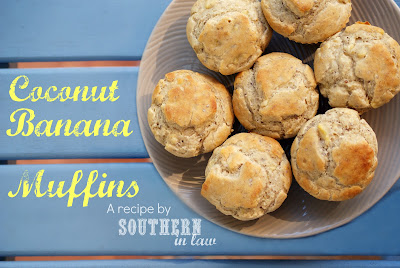Low Fat Coconut Banana Muffins