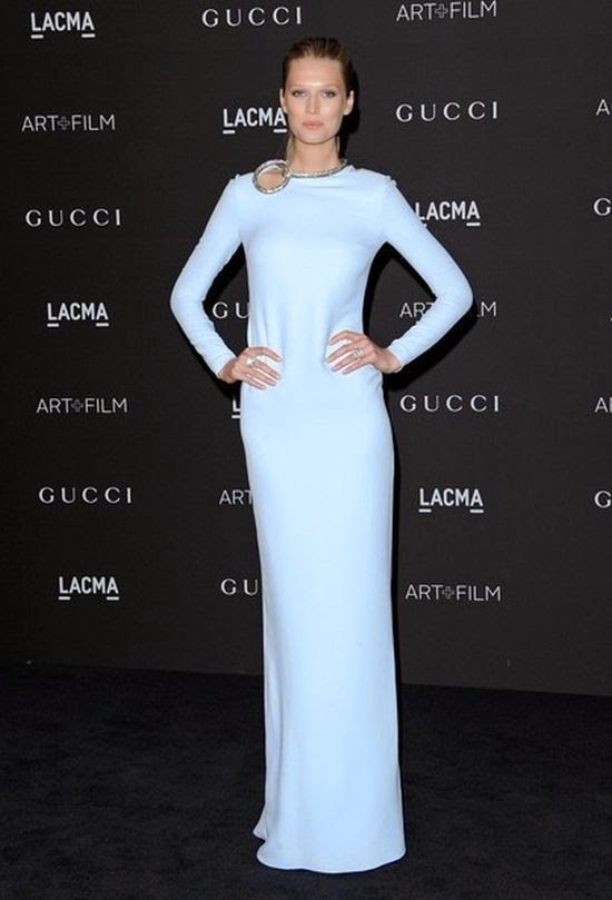 It's obvious that event for a diamond look, every time is carefully chosen. And Toni Garrn definitely earned points for being fantastic and she surprisingly know how to work it on LACMA art at Los Angeles, USA on Saturday, November 1, 2014.