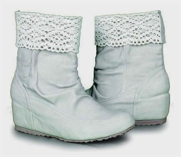 Sepatu: Sepatu Booth Renda Putih Giardino