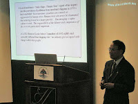 Khanh Tran, Chief Engineer with Canadian Coast Guard deliver a technical paper