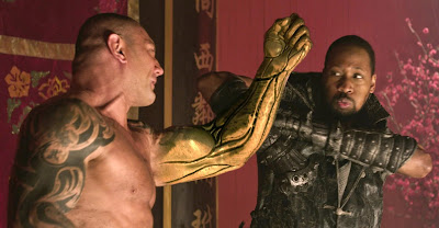 Batista and RZA in The Man with the Iron Fists