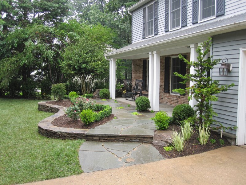 896 ydc how two landscape architects transform their yard for Front porch landscaping plants