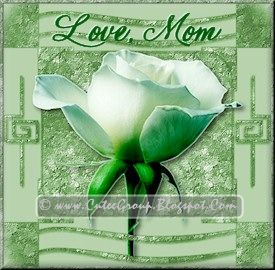 Green Rose extra including Love Mom