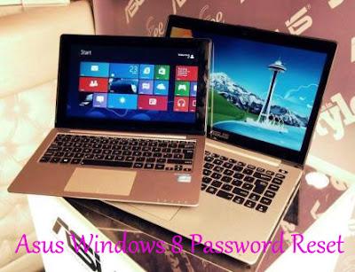 reset asus windows 8 password