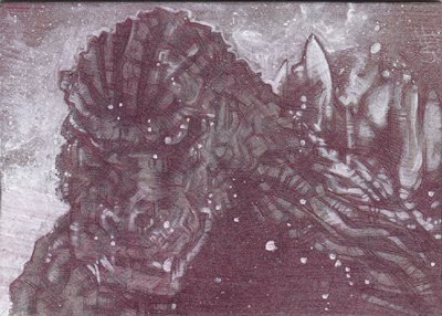 Godzilla(Pencil study) ACEO Sketch Card by Jeff Lafferty