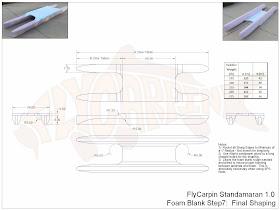 Standamaran SUP Plans Foam Blank Step 7 (Final)