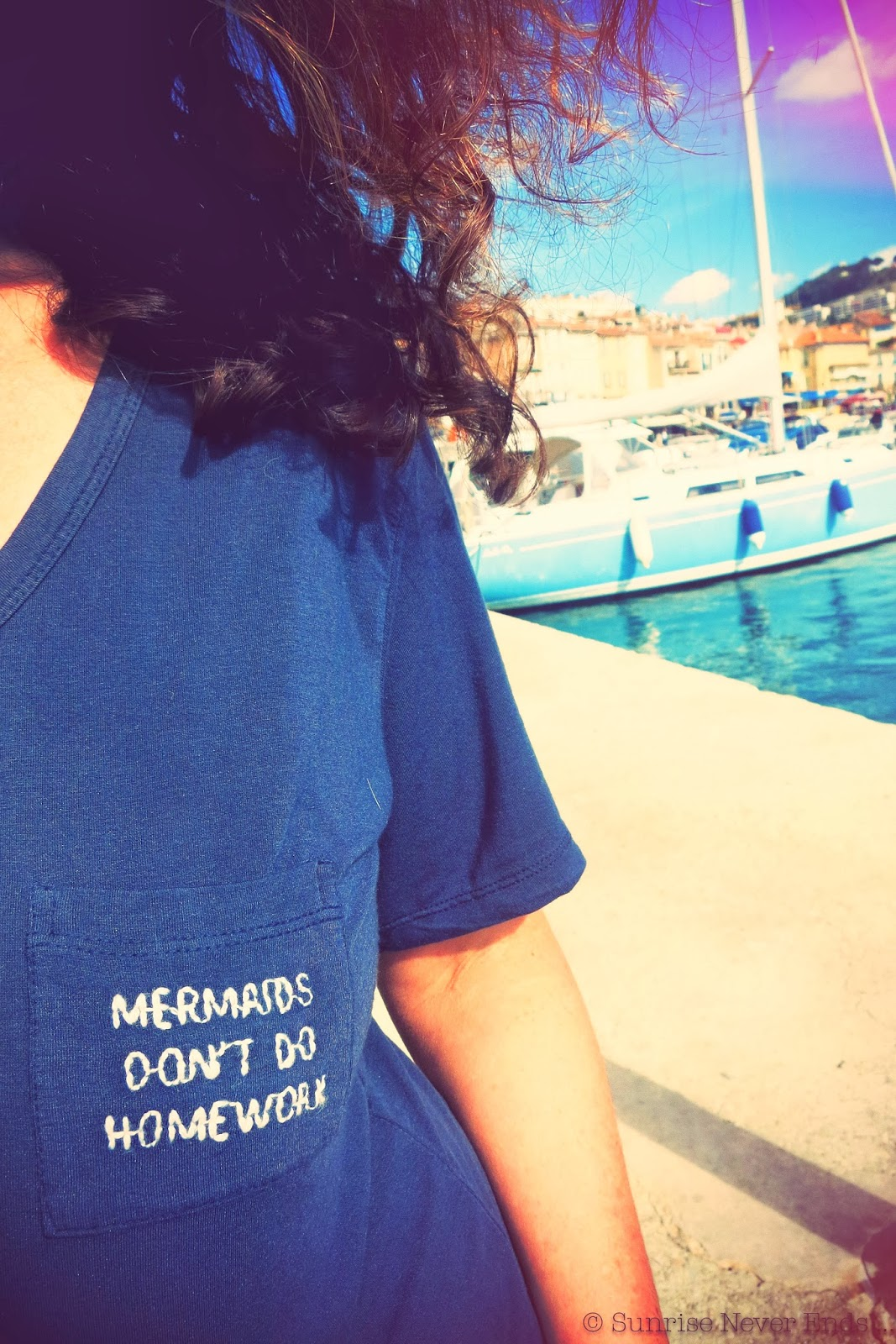 tee-shirt,mermaids don't do homework,mermaids,brandy melville