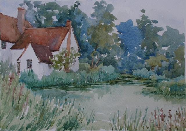 Flatford Mill, acuarela