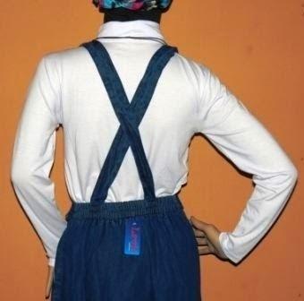Rok Jeans dengan Tali Penarik