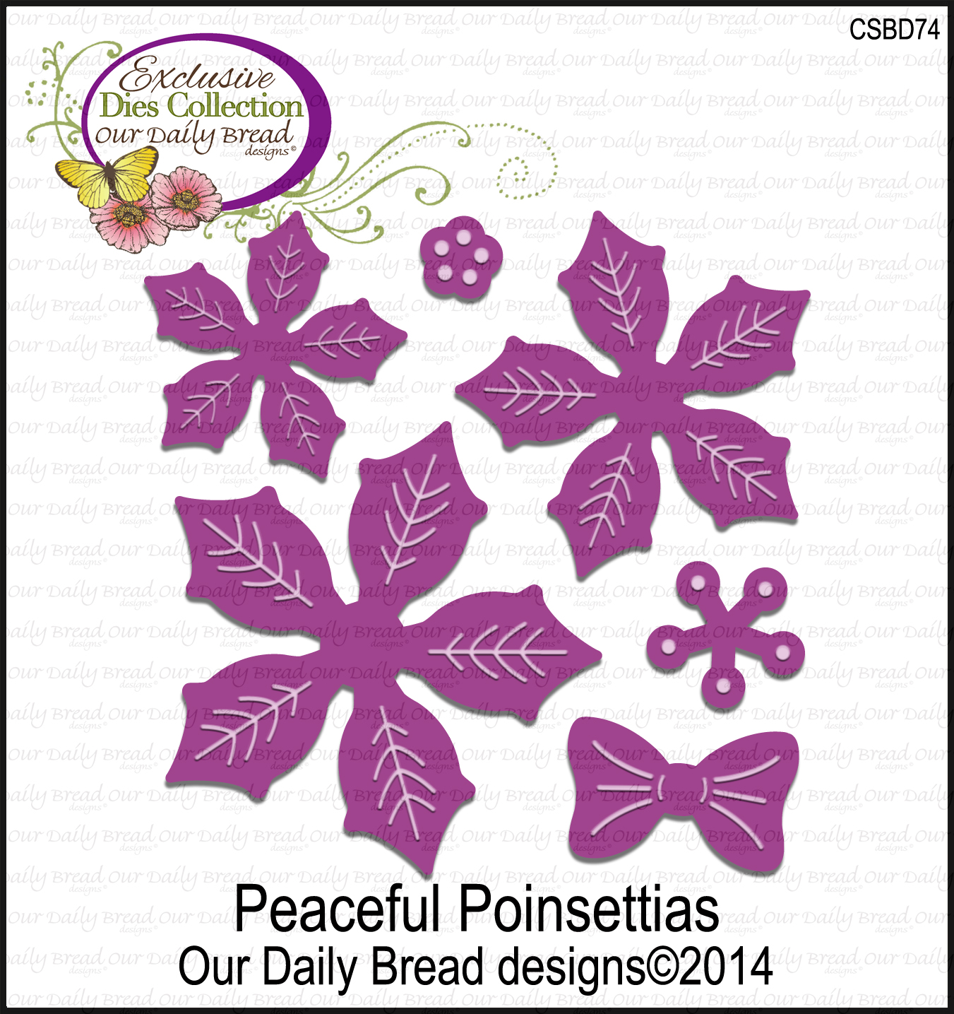 Our Daily Bread Designs ODBD Custom Peaceful Poinsettias Die
