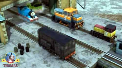 Loud honking hooting sound from outside the steamworks Thomas and friends Diesel Den and Dart train