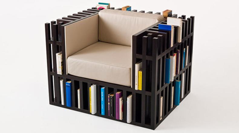 Bibliochaise: Un trono que también es un estante de libros para 300 libros