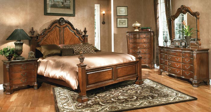 Antique Queen Anne Style Bleached Walnut Bedroom Set Sold Queen ...