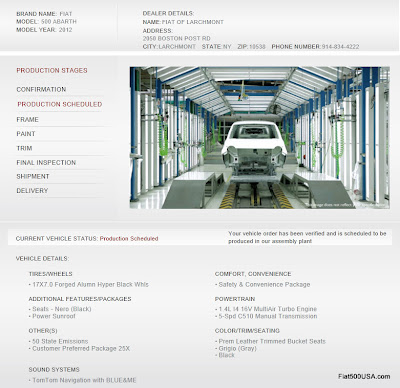 Fiat 500 Abarth Vehicle Online Tracking Image