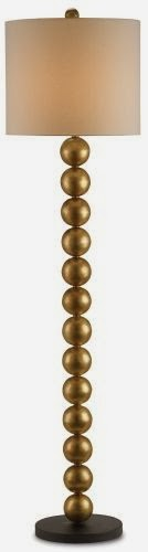 modern floor lamps silver or gold the designer insider With stacked ball floor lamp gold