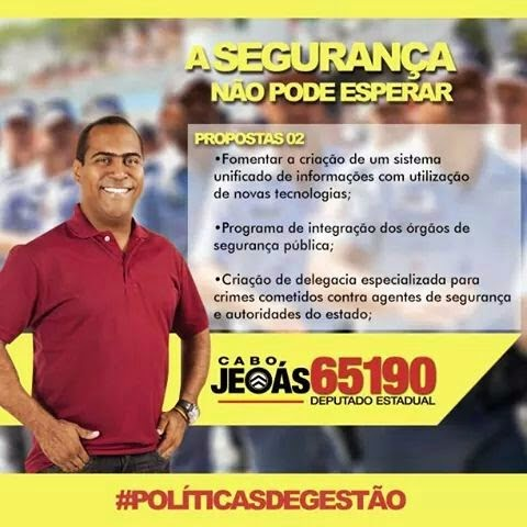 O Candidato a Deputado Estadual Cabo Jeoás 65190