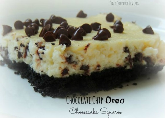 Chocolate Chip Oreo Cheesecake Bars