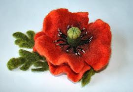 Filcēti ziedi      Felt flowers