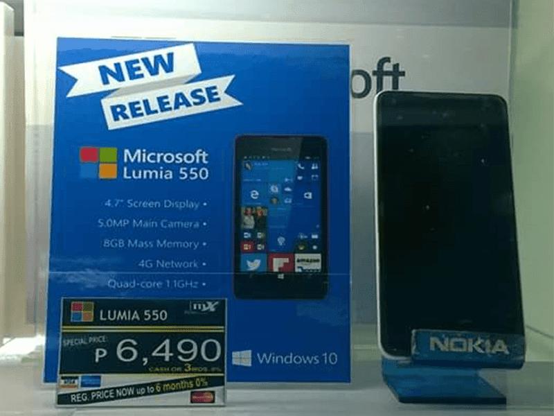 Lumia 550 PH