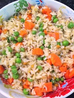 Carrot Rice,Carrot Peas Rice