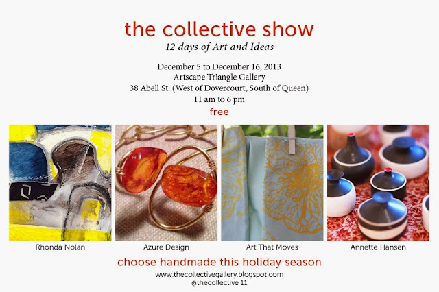 the collective show, the holiday collective, collective gallery, artscape triangle gallery, malinda prudhomme, toronto portrait artist, portrait painting, toronto art, portrait artist