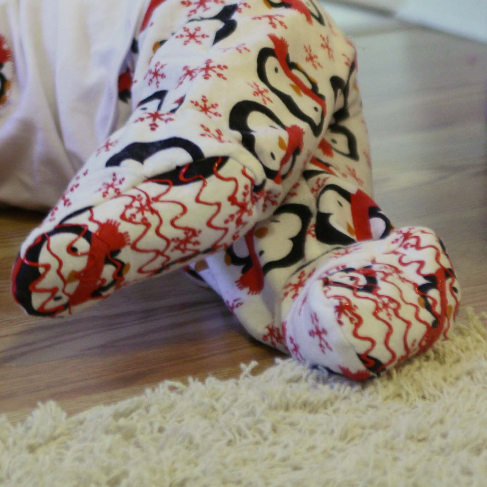 Adding footies to pajamas - Melly Sews