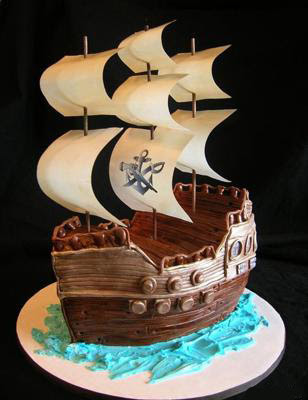 Easy to Make Pirate Cakes http://inkspiredmusings.blogspot.com/2011/07/happy-birthday-party-for-peter.html