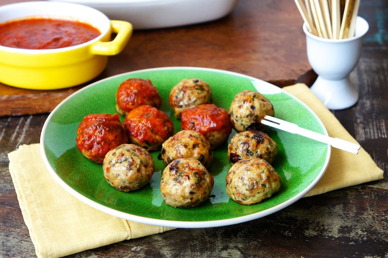 Seasaltwithfood: Baked Chicken Meatballs