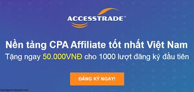 Kiếm tiền trên mạng với accesstrade