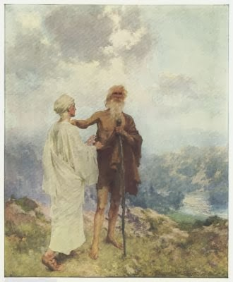 Elisha & Elijah - Artist Unknown