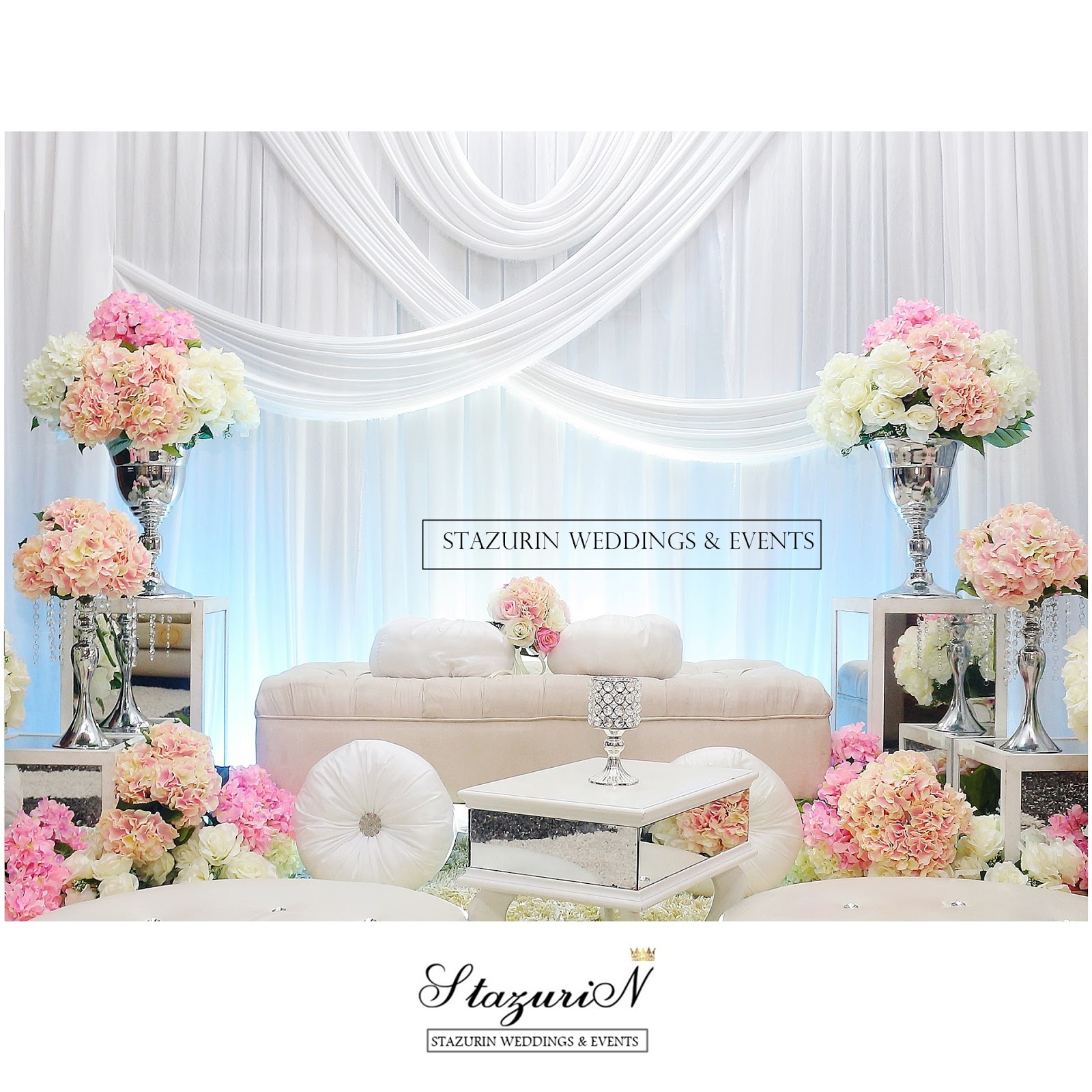 Elegant indian wedding decoration kajang wedding pelaminnikah pelamin tunang pelamin warna pastel stazurinweddings wedding tray decoration junglespirit Image collections