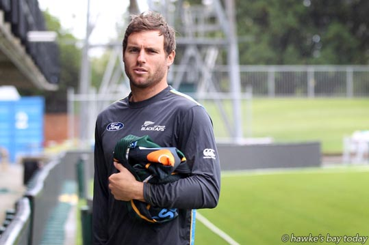 Doug Bracewell, Black Caps cricket team, at McLean Park, Napier, one day before an ODI with Pakistan. photograph