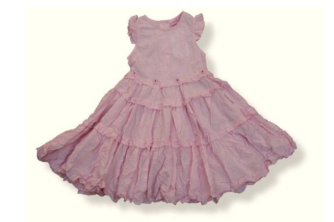 فستان بني مزركش الأسفل للبنات الصغار من الأطفال